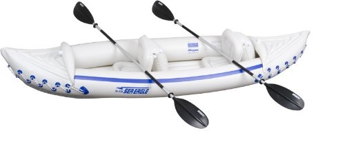 Sea Eagle Inflatable Kayak with Paddles, Blue/White - Kayak
